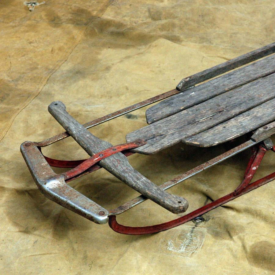 Antique Snow Sled // Up and Down the Hill | Snow sled, Snow and Etsy