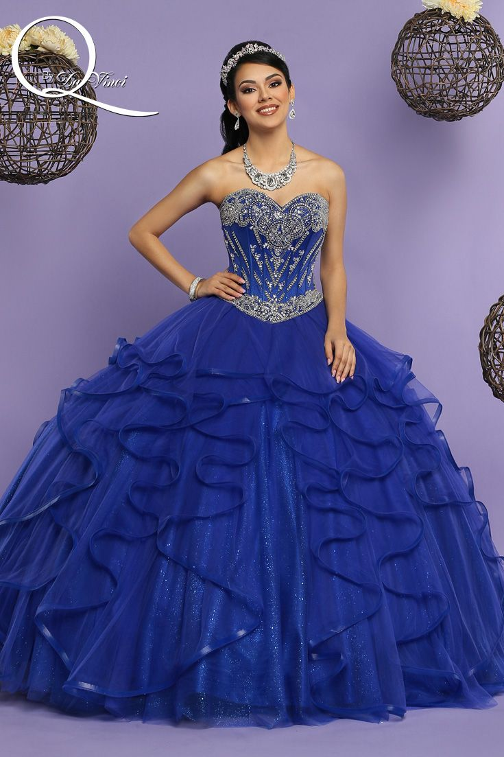 Q by DaVinci Style # 80361 This beautiful glitter tulle gown is ...
