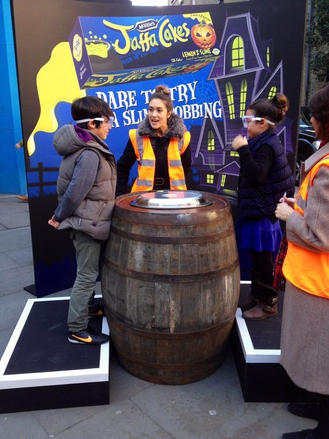 Jaffa Cake 'Slime Bobbing' at Covent Garden - for Slice - SeTwo www.setwo.co.uk