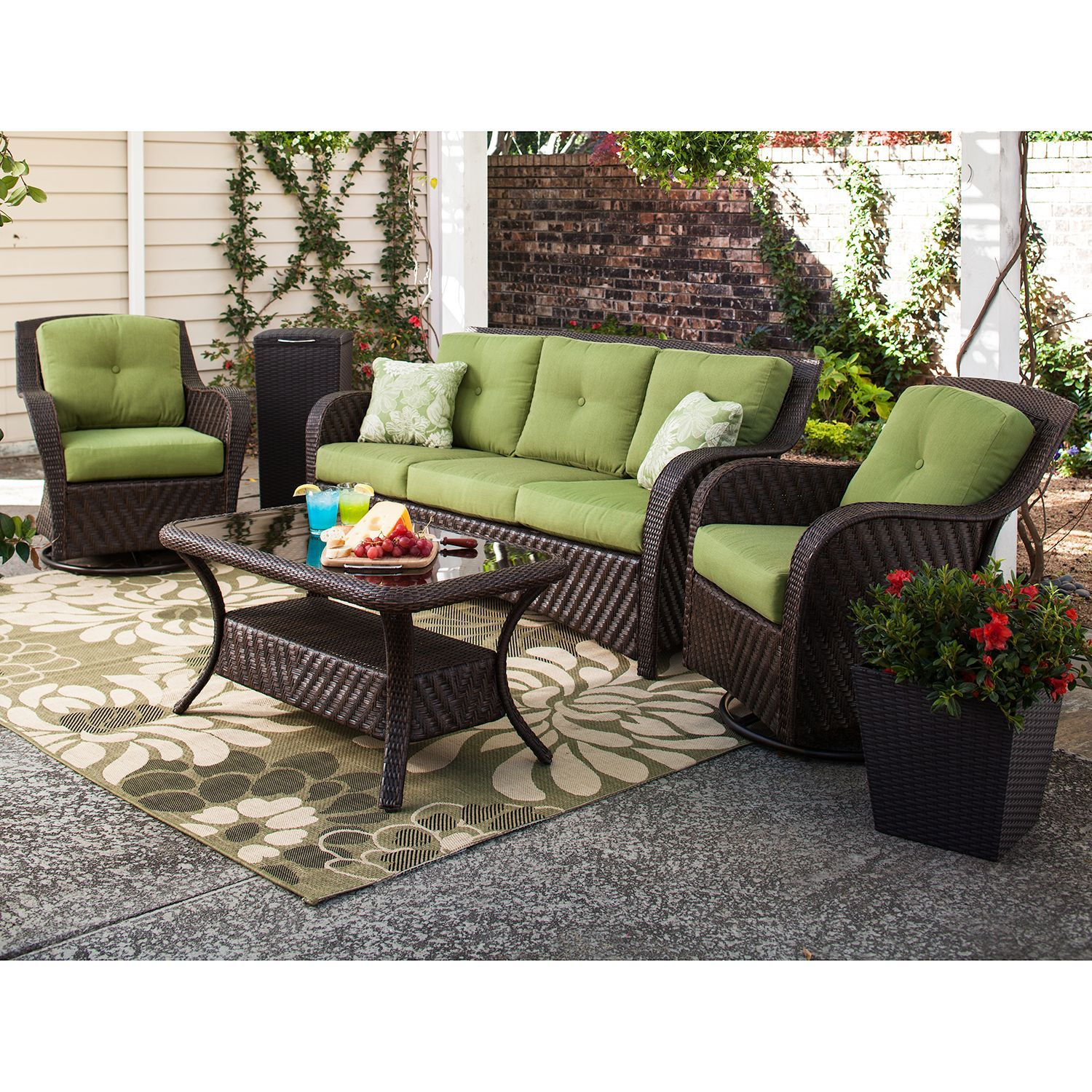 Newport Outdoor Seating Set Turf 4 Pc Sam S Club With Images Outdoor Seating Set Outdoor Furniture Sets Outdoor Furniture