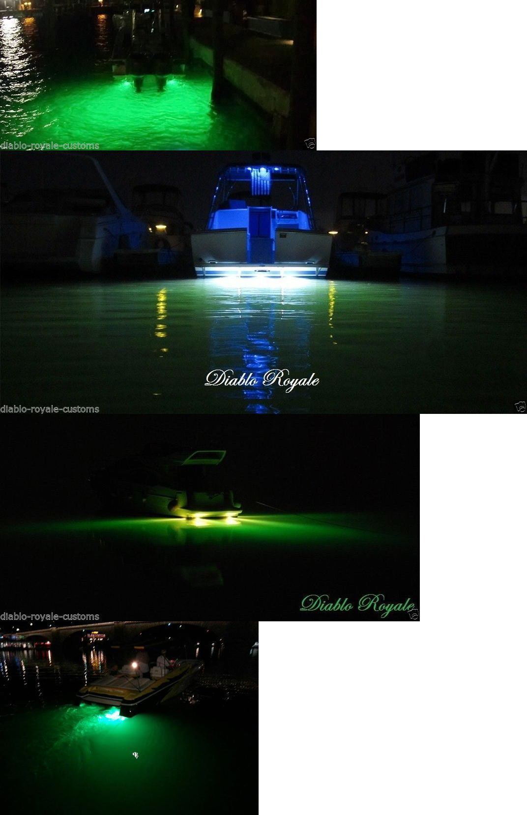 lights 123489: green led gty underwater fishing drop light boat, Reel Combo