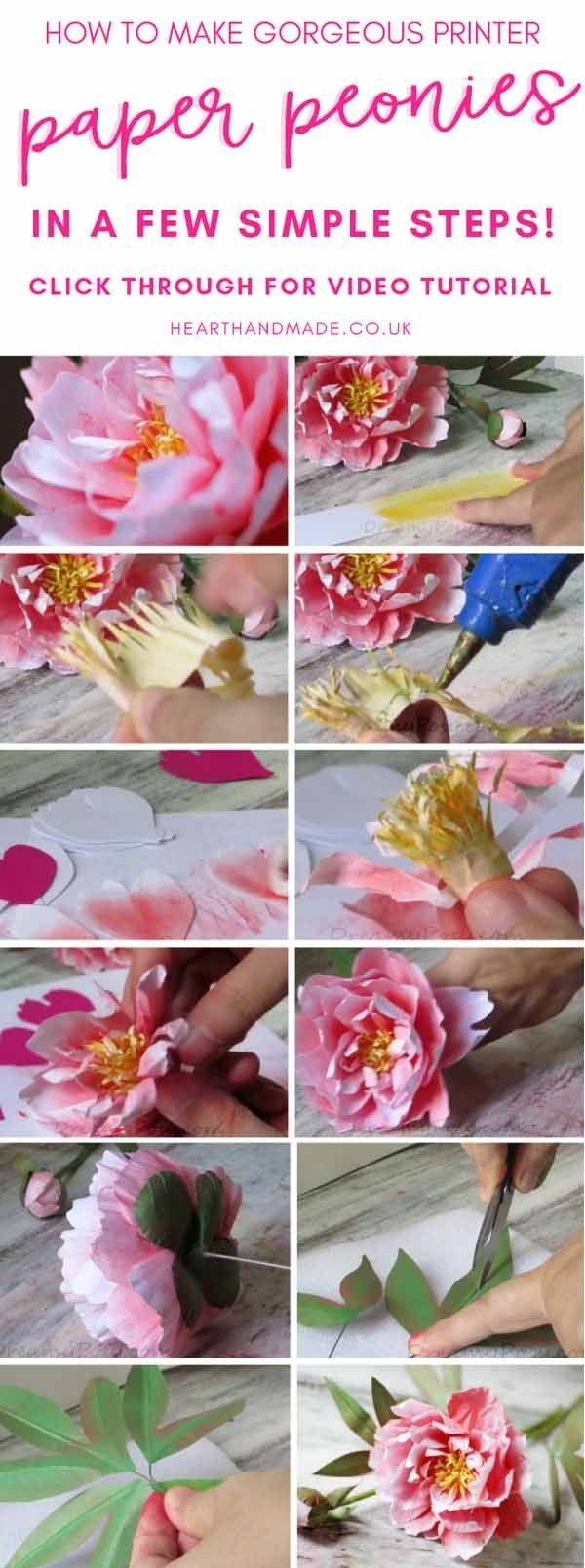 In Need Of A Paper Peony Tutorial Paper Peony Template Look No