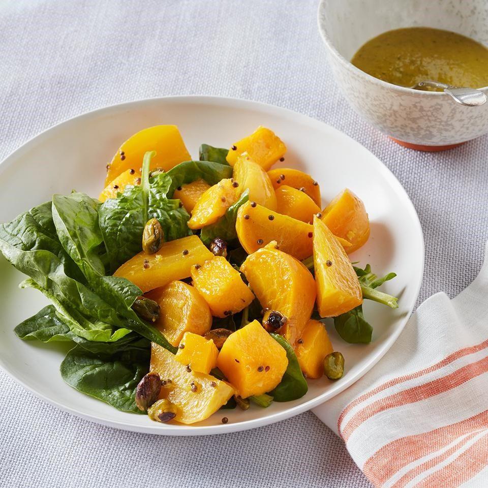 Golden Beet Salad With Apricot Vinaigrette Recipe Golden Beets Salad Beet Salad Salad Recipes