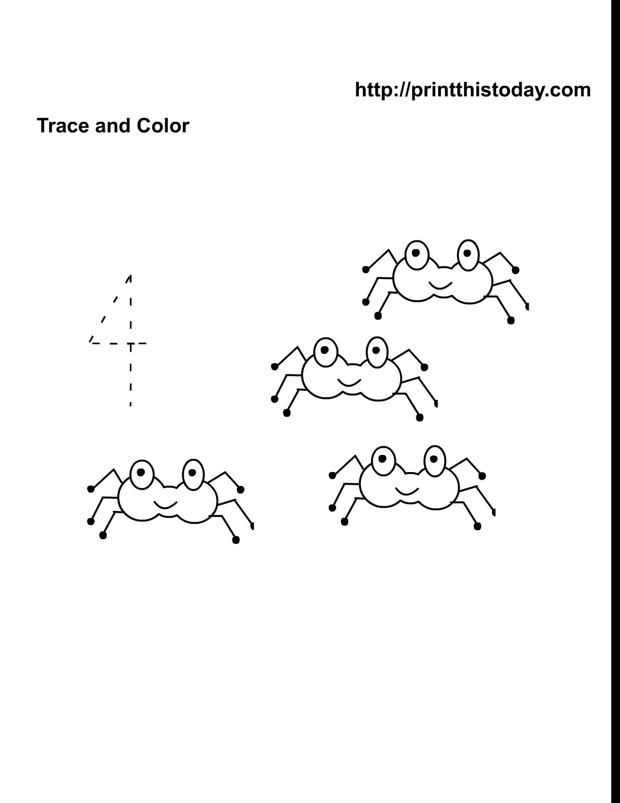 Halloween Math Worksheet With Four Cute Spiders Halloween Math Worksheets Halloween Math Kindergarten Kids [ 1650 x 1275 Pixel ]