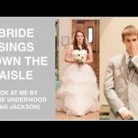 Bride Sings down the Aisle