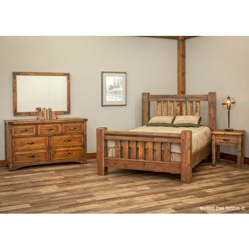 rustic rough sawn timber frame bed cool home ideas in 2019 rh pinterest com