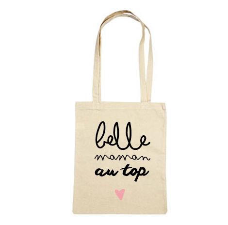 tote bag cadeau belle maman tote bag and belle. Black Bedroom Furniture Sets. Home Design Ideas