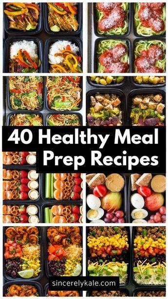 40 Healthy Meal Prep Recipes to Make For The Week images
