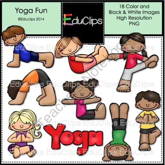 Teachers Notebook Art Bundle Yoga For Kids Kids Clipart