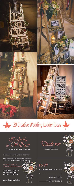 Wedding room decoration ideas   CREATIVE SHABBY CHIC LADDER WEDDING DECORATION IDEAS  Wedding
