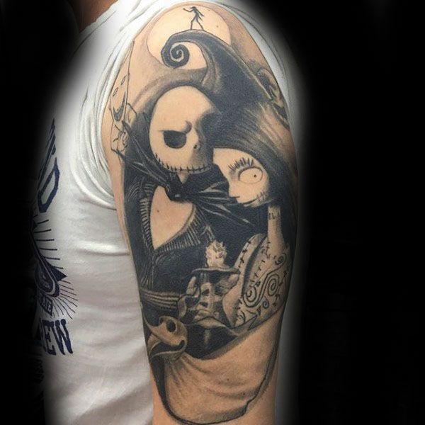 Top 95 Nightmare Before Christmas Tattoo Ideas 2020 Guide Nightmare Before Christmas Tattoo Half Sleeve Tattoo Half Arm Sleeve Tattoo