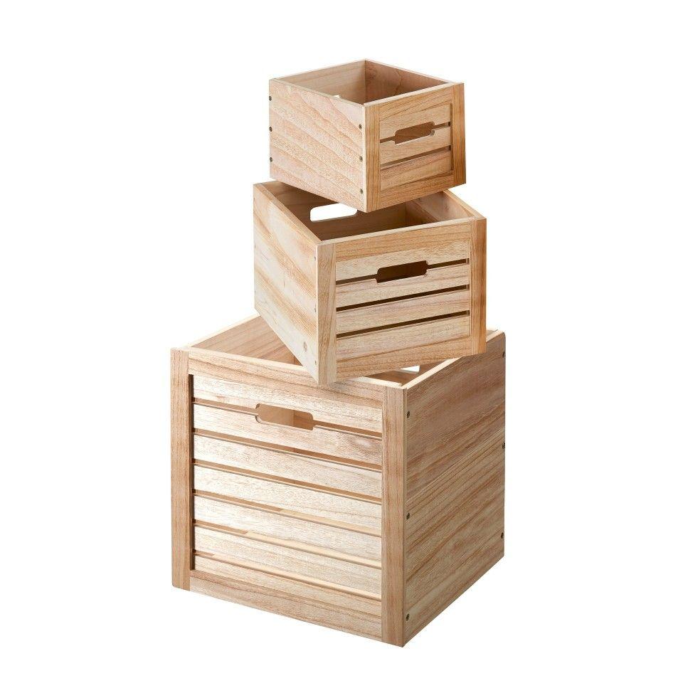 Box Paulina Grosse L Natur Paulownia Holz Box Und Danisches