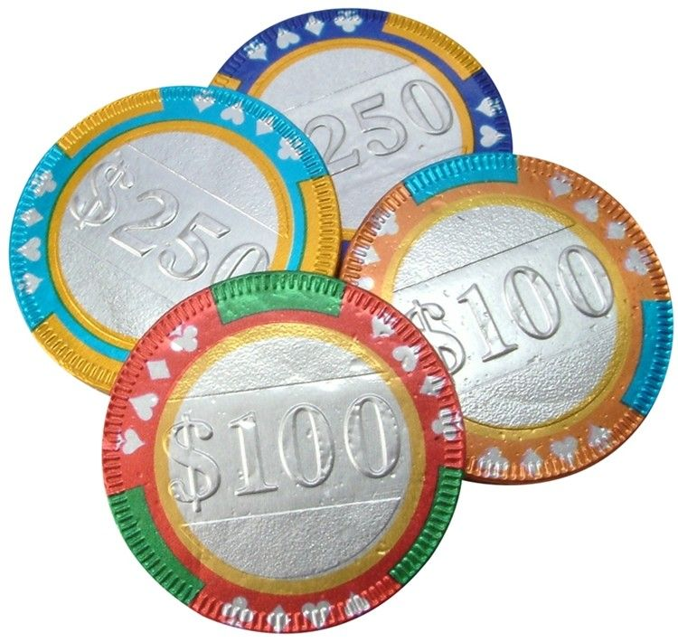 Chocolate casino poker chips by Chocolate Trading Co