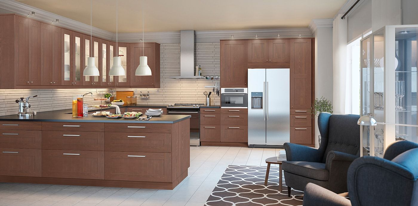 Grimslov Door Brown 24x60 Ikea In 2020 Brown Kitchen Cabinets Corner Base Cabinet Base Cabinets