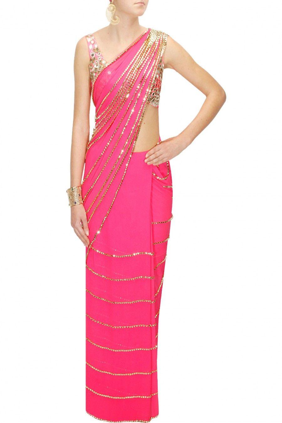 Pink colour sari | Gimnasia rítmica, Gimnasia y Vestiditos