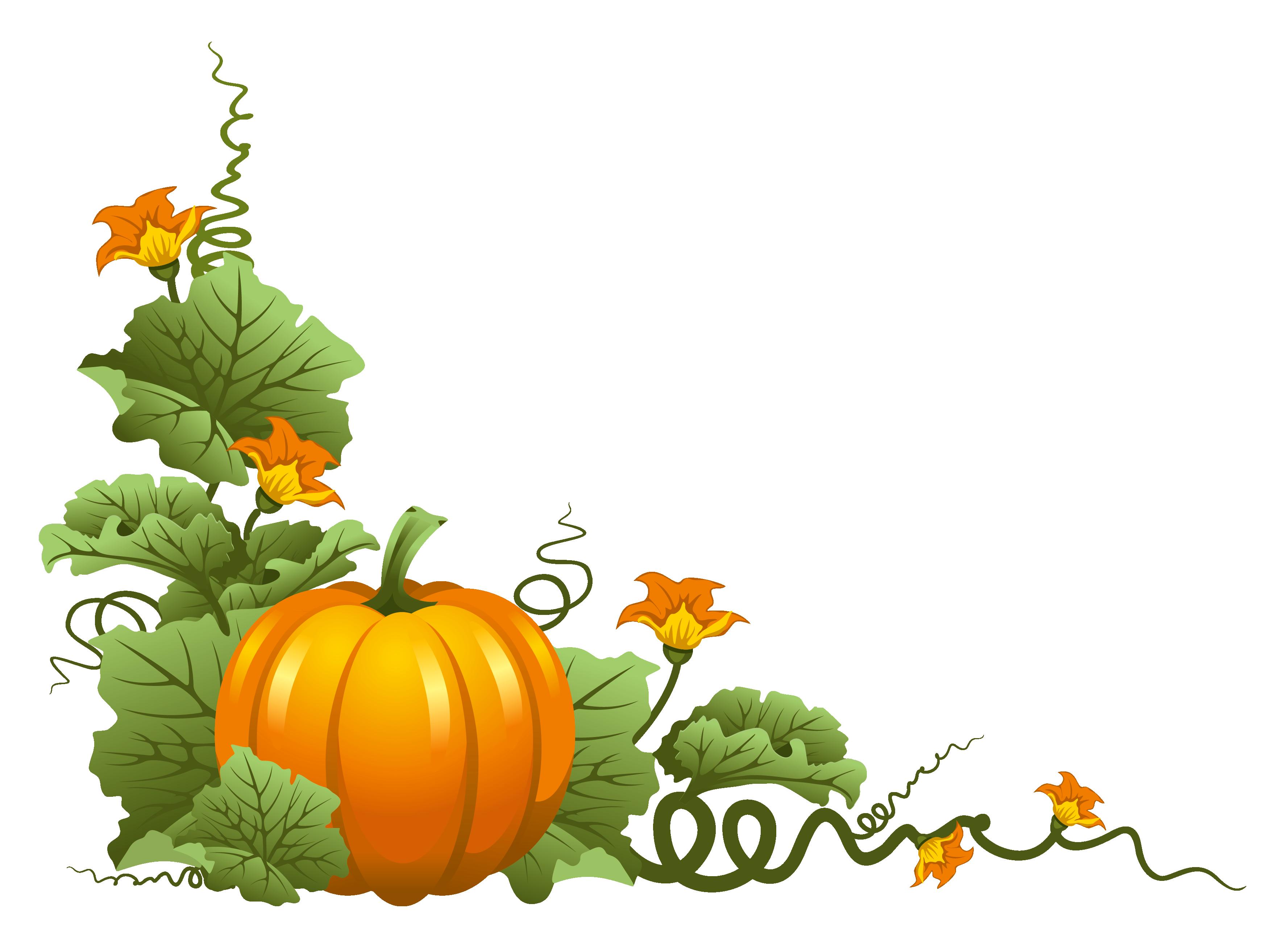 Pumpkin Decor PNG Clipart Ősz