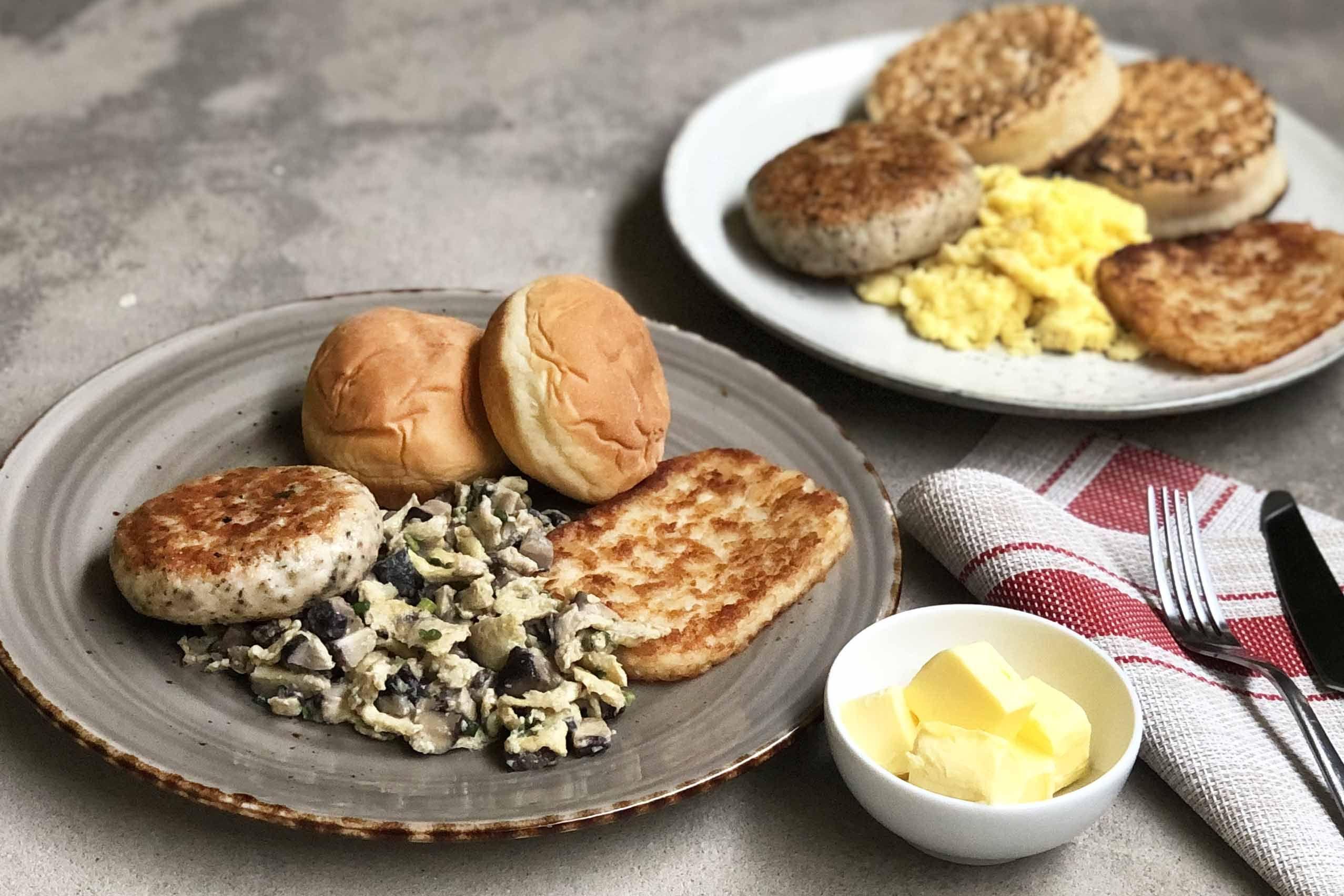 Mcdonald S Inspired Hearty Big Breakfast 2 Ways Recipe Breakfast Food Tasting Asian Food Channel