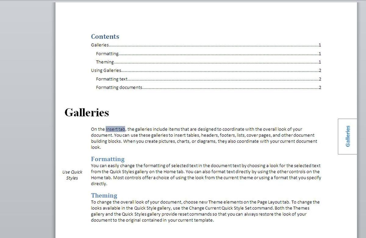 How To Add An Index To A Word Document Using Index Tags With