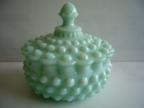 Rare Fenton Mint Green Pastel Milk