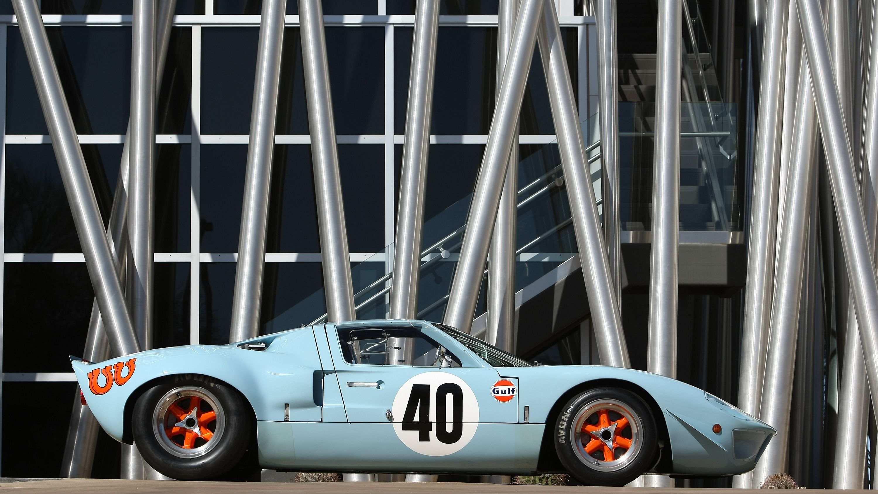 Ford GT40 Gulf-Mirage Lightweight Racing Car 1968
