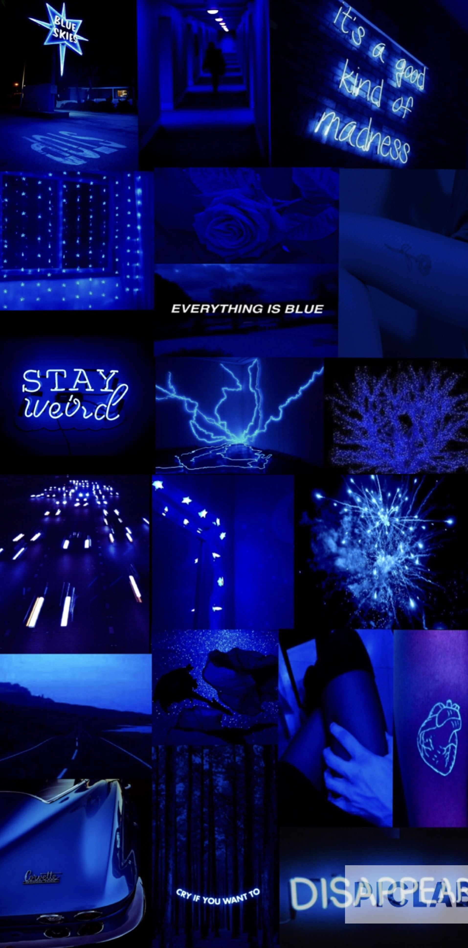 Aesthetic Backgrounds Dark Blue : aesthetic, backgrounds, Aesthetic, Electric, Dark,, Wallpaper,, Light