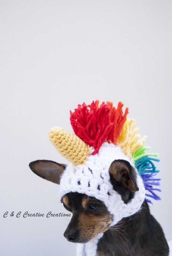 Unicorn Dog Hat by CCCreativeCreations on Etsy | Dog Clothes ...