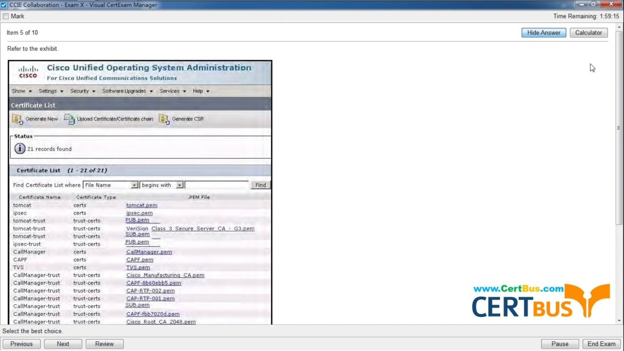 Easily Pass 400-051 Exam with Certbus Updated Real Cisco 400-051 Exam Ma...