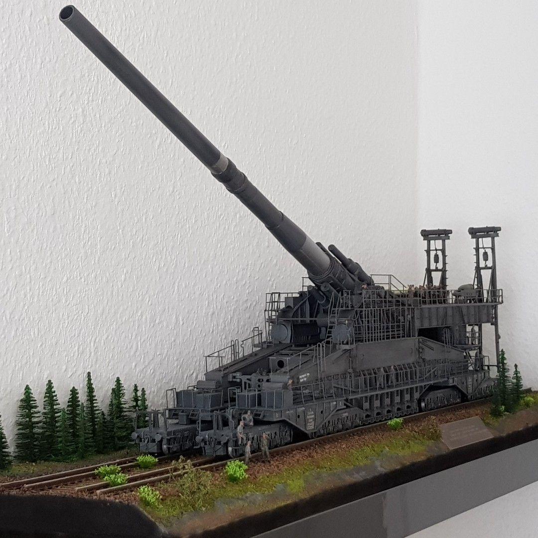 Eisenbahngeschutz Dora Diorama 1 72 Model Railroad Scenery Military Diorama Military Modelling