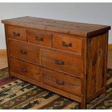 Timberframe Barnwood 7 Drawer Dresser Barn Wood Furniture Pine Timber