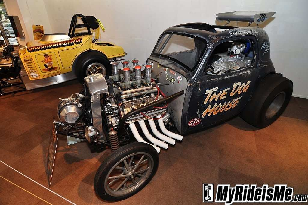 Vintage Fiat Topolino, hemi powered fuel altered. Grungy