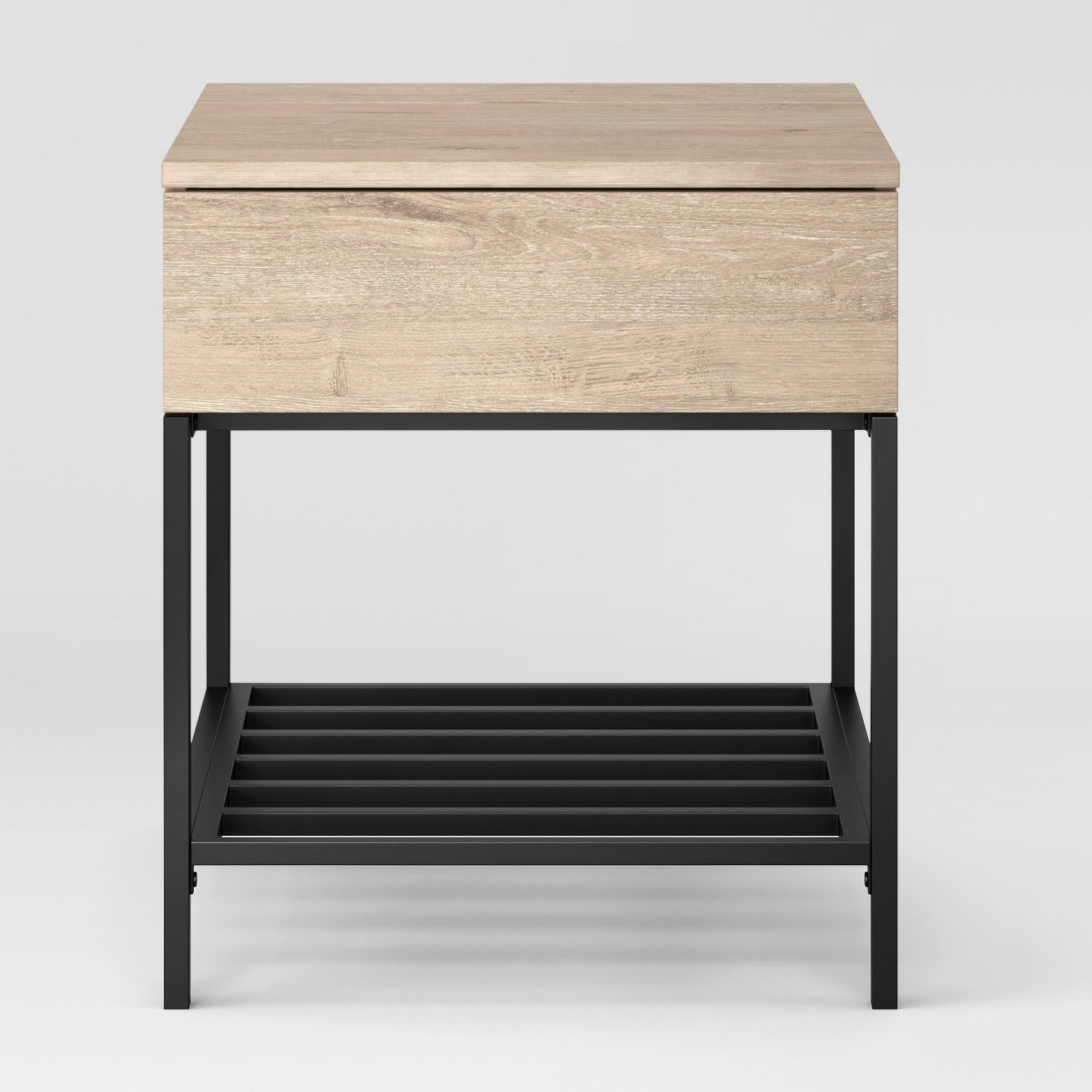 the loring end table from project 62 uses an industrial design rh pinterest com