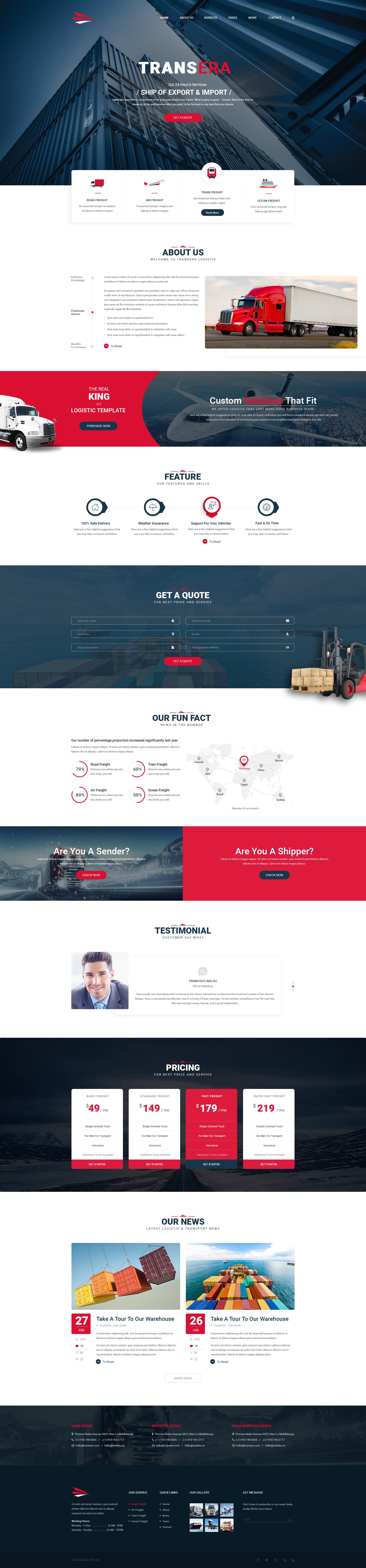 Transera Transportation Logistics Psd Template Download Https Themeforest Net Item Trans Corporate Web Design Web Layout Design Website Design Layout