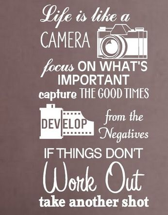 Camera Vinyl Wall Decal Life Is Like A Camera Quote Lettering Words Mural Art Wall Sticker Cinema Film Bedroom H Camera Quotes Life Is Like Inspirational Words