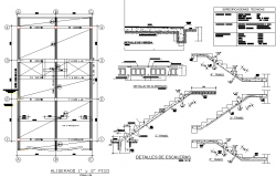 Staircase section plan detail dwg file   Cadbull in 2019