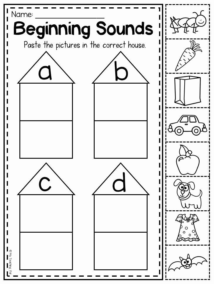 Beginning sounds preschool worksheets in 2020 phonics
