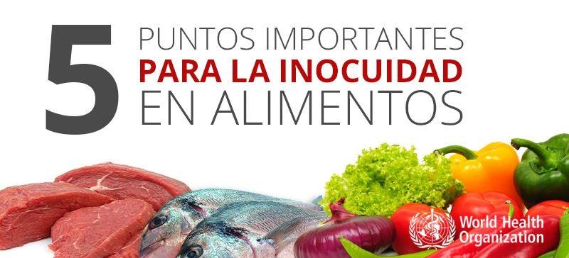 5 puntos importantes para lograr la inocuidad en alimentos