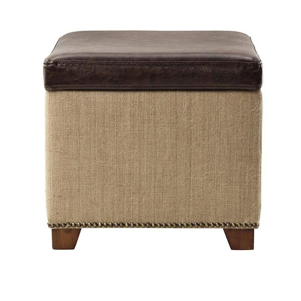 ottoman for living room%0A Home Decorators Collection Ethan Brown Storage Ottoman