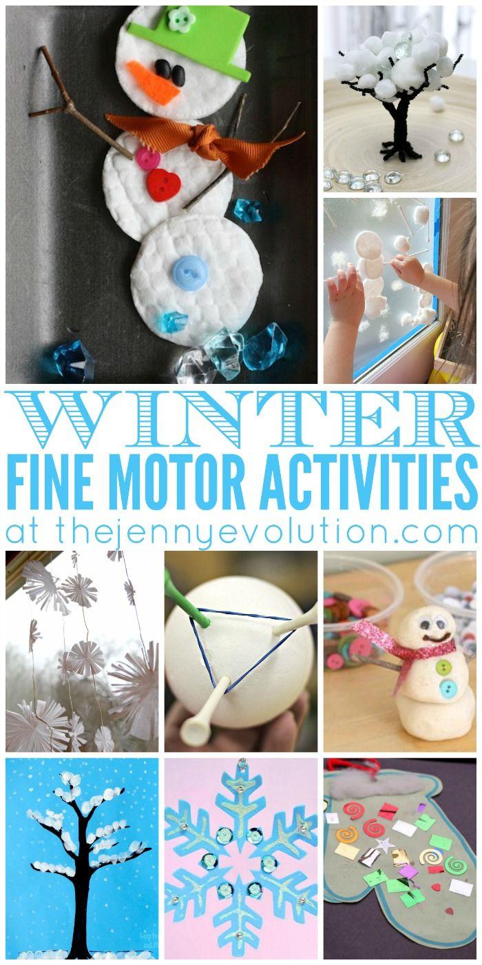 Fine Motor Winter Activities for Preschoolers Fine motor