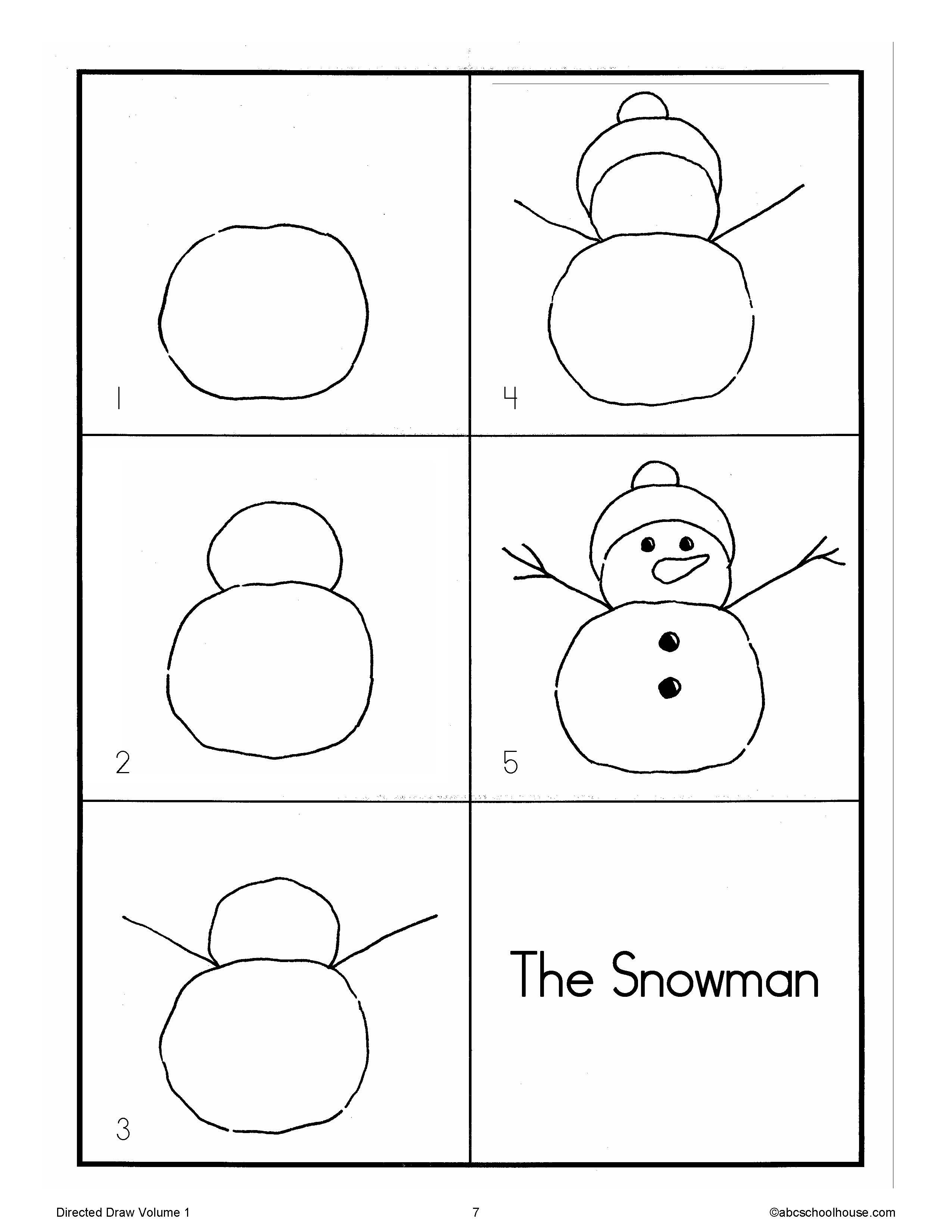 Directed Drawing Snowman Art Activities Pinterest Directed