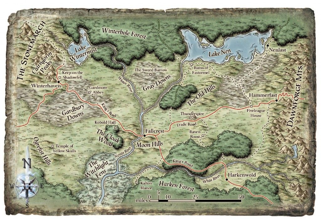 Dungeons and Dragons World map the iron