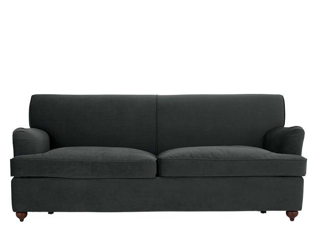 made 3 seater sofa bed midnight grey velvet orson 3 seater sofas rh pinterest com