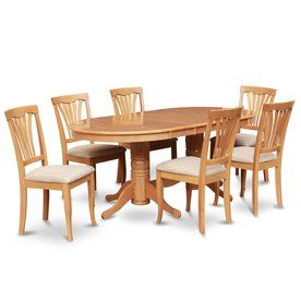 east west furniture vancouver oak 7 piece dining set with oval rh pinterest ph