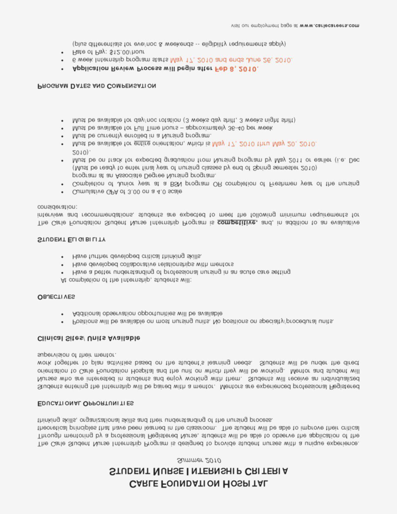 Nursing student resume with no experience luxury 68 new