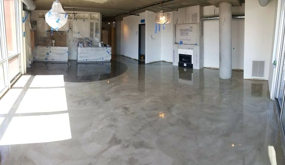 staining concrete floors concrete overlay floor stained concrete rh pinterest com