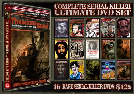 SERIAL KILLER CALENDAR - SERIAL KILLER TRADING CARDS- SERIAL KILLER MAGAZINE - SERIAL KILLER DVDS - MURDERABILLIA