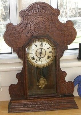 Antique ornate mantel clocks
