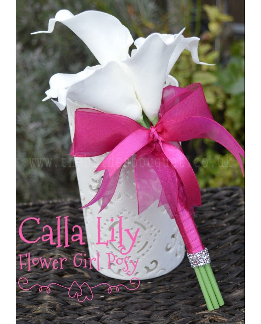 Calla Lily Flowergirl Posy ivory childs wedding bouquet