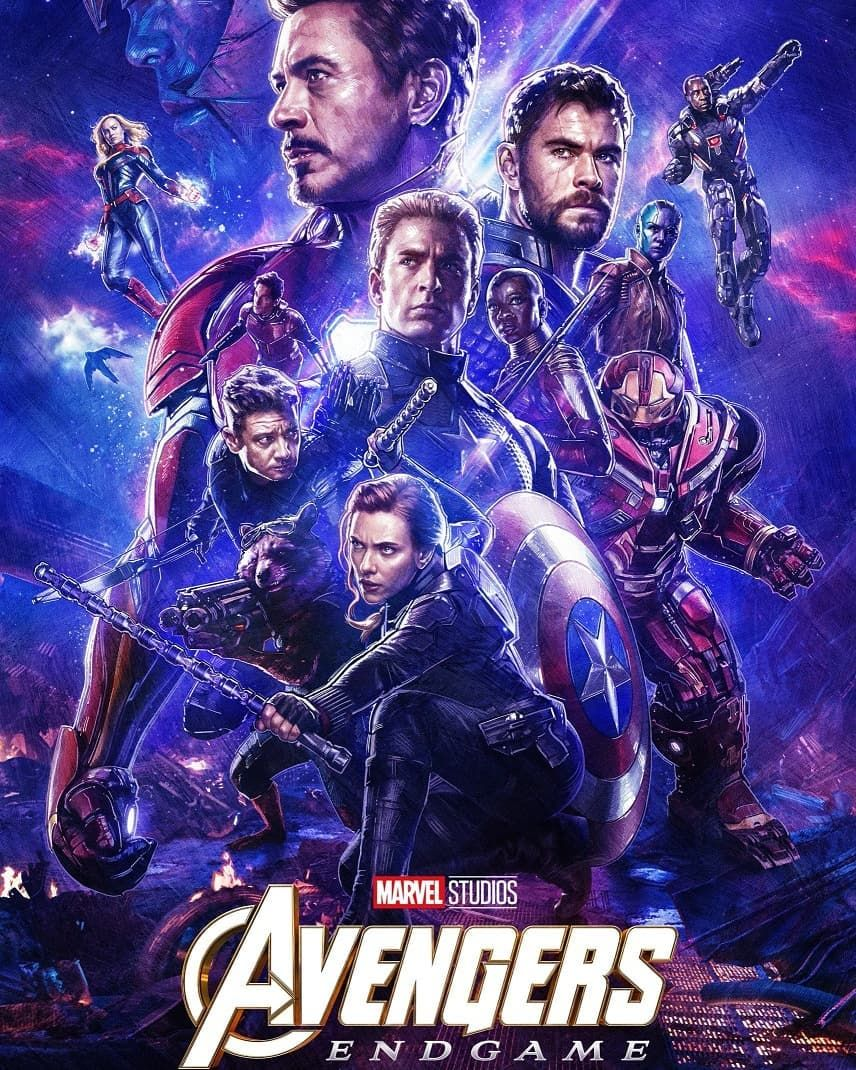 Avengers Endgame Real 3D Poster. And Than Atom Tickets