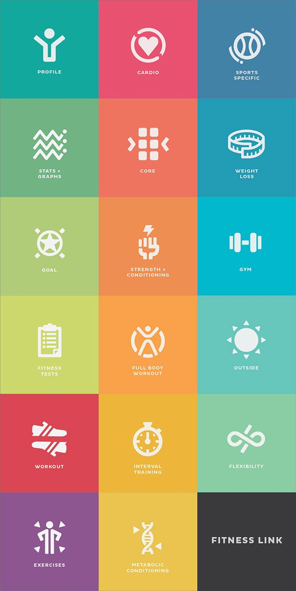 App Concept And Icon Design For The Fitness Link Wellness App Strong Simplistic And Bright This Design Is Meant To Ge Icon Design App Design App Icon Design