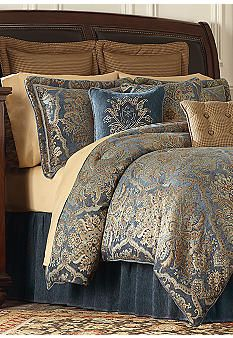 Biltmore Charity 20 Belk Everyday Free Shipping Bed Linens Luxury Luxurious Bedrooms Comforter Sets Blue and gold comforter set king